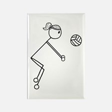 Volleyball Girl Black No Word Rectangle Magnet