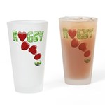 The Rugby Rush Pint Glass