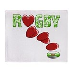 The Rugby Rush Throw Blanket