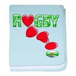 The Rugby Rush baby blanket