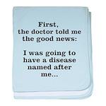The Good News baby blanket