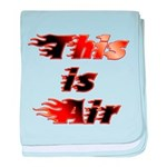 The On Fire Air Guitar baby blanket