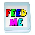 The Feed Me baby blanket