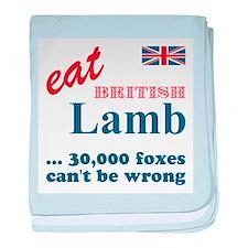 Slam in the Lamb baby blanket