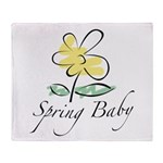 The Spring Baby Throw Blanket