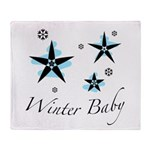 The Winter Baby Throw Blanket