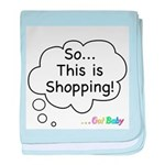 The Retail Therapy baby blanket