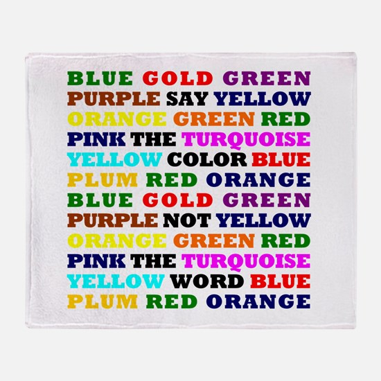 The Color Conundrum Throw Blanket