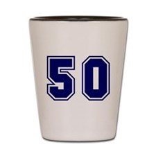 The Number 50 Shot Glass