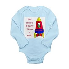 The Scarier Than a UFO Long Sleeve Infant Bodysuit