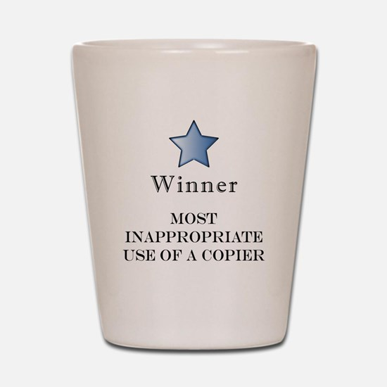 The Photocopier Award Shot Glass