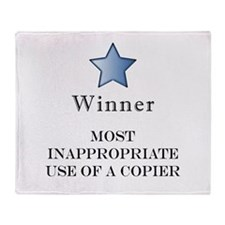 The Photocopier Award Throw Blanket