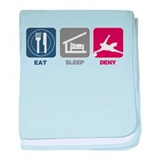 Eat Sleep Deny baby blanket