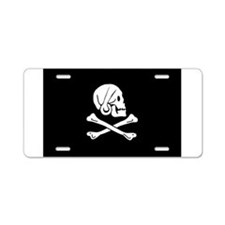 Henry Every's Pirate Flag Aluminum License Plate