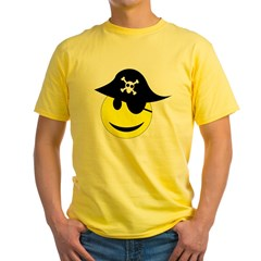 Smiley pirate art T