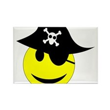 Smiley pirate art Rectangle Magnet