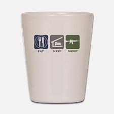 Eat Sleep Shoot Shot Glass