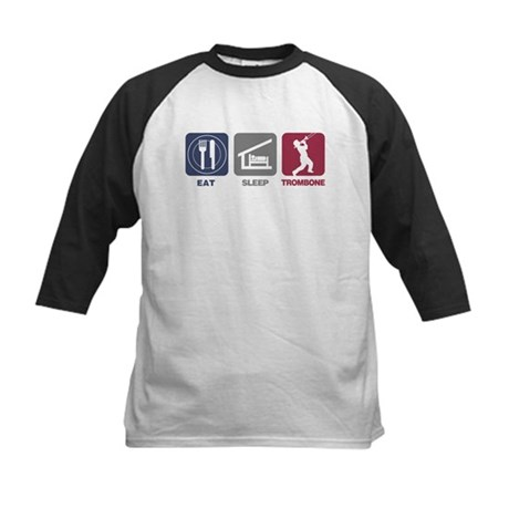 Eat Sleep Trombone Kids Baseball Jersey