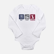 Eat Sleep Trombone Long Sleeve Infant Bodysuit