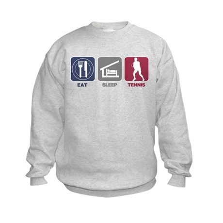 Eat Sleep Tennis - Man Kids Sweatshirt