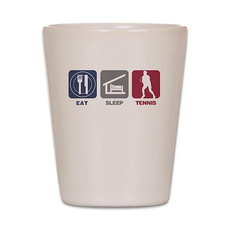 Eat Sleep Tennis - Man Shot Glass