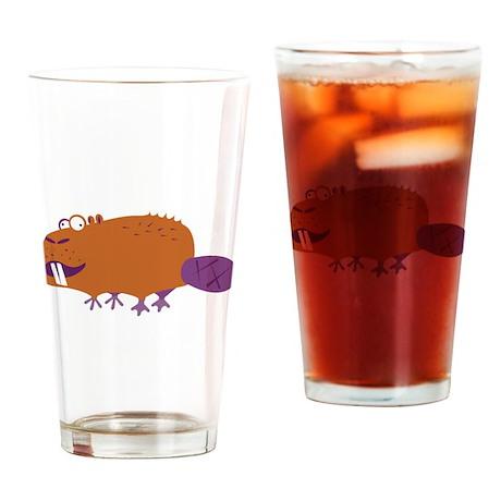 Loony Beaver Pint Glass