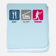 Eat Sleep Tennis - Man 2 baby blanket