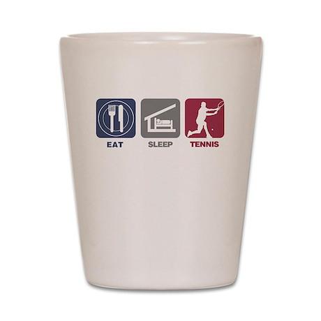 Eat Sleep Tennis - Man 2 Shot Glass