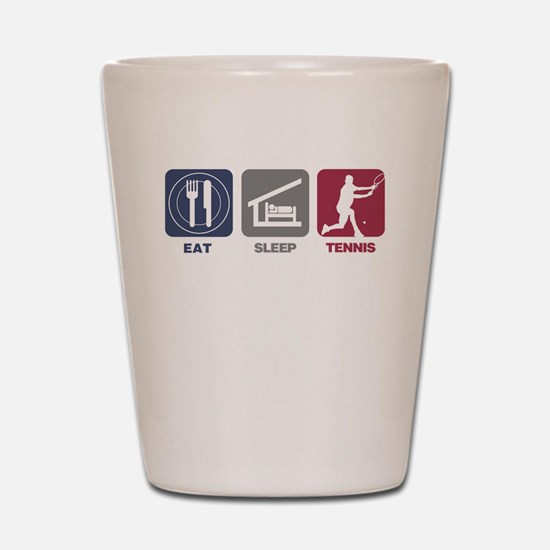 Eat Sleep Tennis - Man 2 Shot Glass