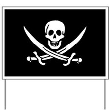 Calico Jack's Pirate Flag Yard Sign