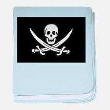 Calico Jack's Pirate Flag baby blanket