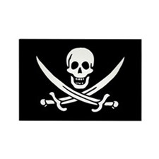 Calico Jack's Pirate Flag Rectangle Magnet
