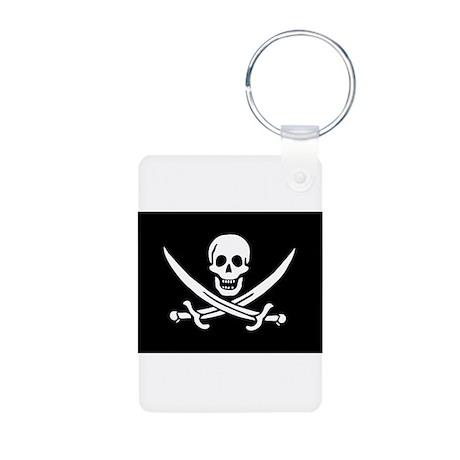 Calico Jack's Pirate Flag Aluminum Photo Keychain