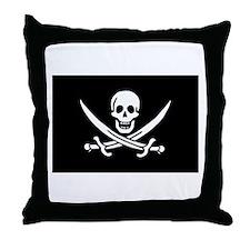 Calico Jack's Pirate Flag Throw Pillow