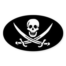 Calico Jack's Pirate Flag Decal