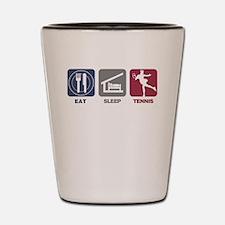 Eat Sleep Tennis Woman 2 Shot Glass