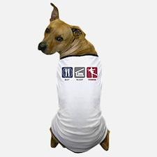 Eat Sleep Tennis Woman 2 Dog T-Shirt
