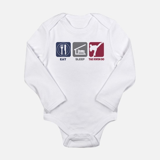 Eat Sleep Mens Tae Kwon Do Long Sleeve Infant Body
