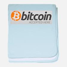 Bitcoins-7 baby blanket
