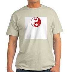 Yin Yang Hearts Ash Grey T-Shirt