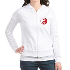 Yin Yang Hearts Fitted Hoodie