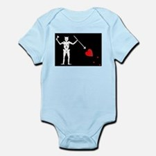 Blackbeard's Pirate Flag Infant Bodysuit