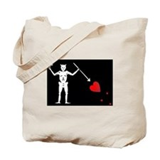 Blackbeard's Pirate Flag Tote Bag