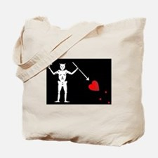 Blackbeard's Pirate Flag Tote Bag