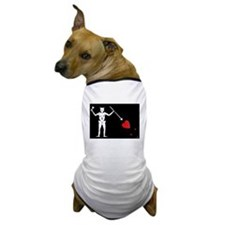 Blackbeard's Pirate Flag Dog T-Shirt