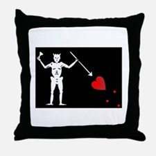 Blackbeard's Pirate Flag Throw Pillow