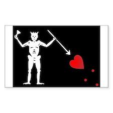 Blackbeard's Pirate Flag Decal