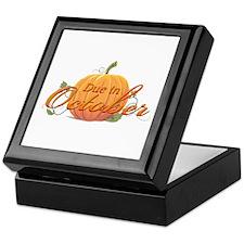 Due In October Keepsake Box