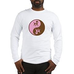 Yin Yang Poodles Long Sleeve T-Shirt