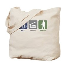 Eat Sleep Serve - Woman Tote Bag
